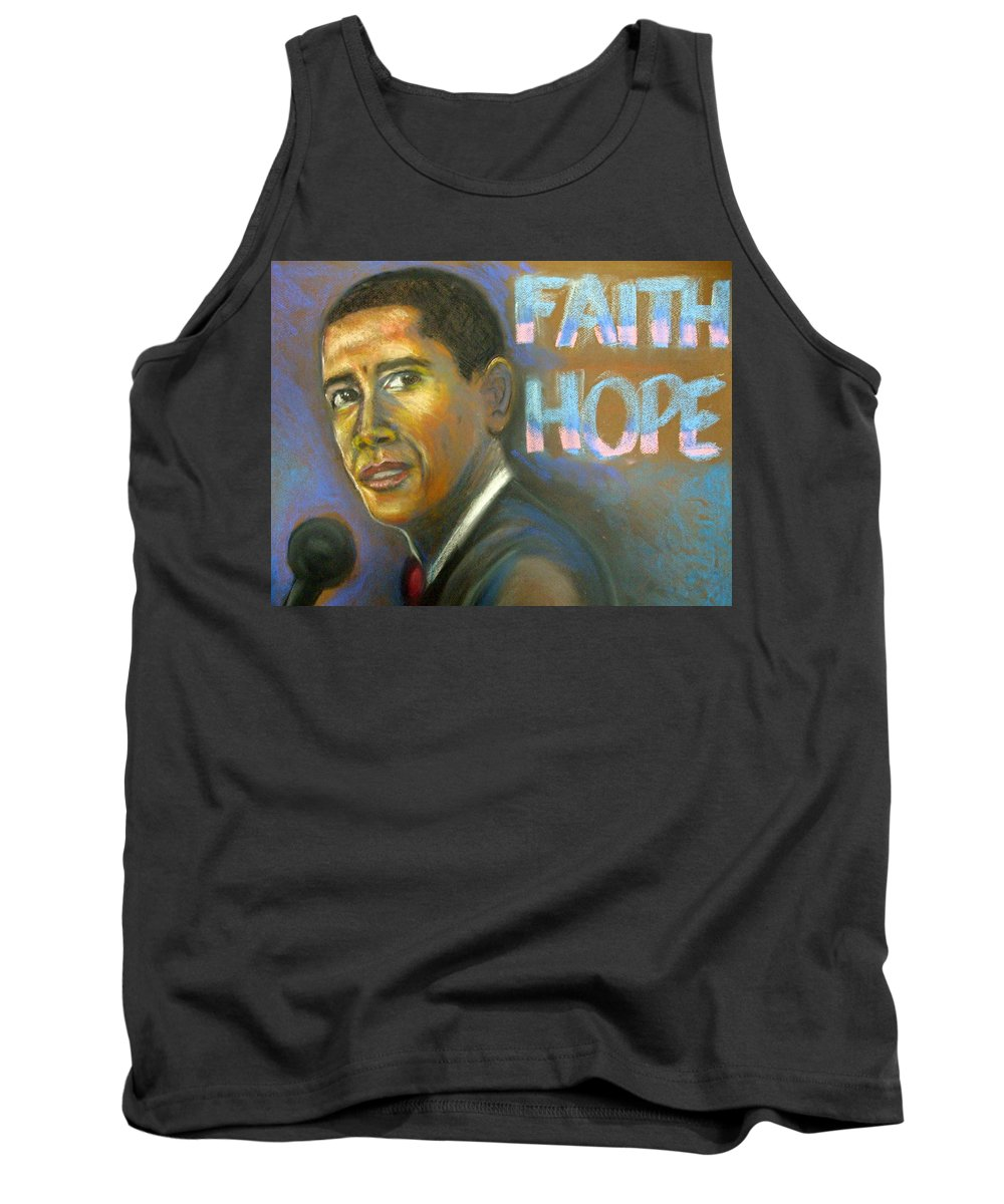 Tank Top featuring the drawing Faith And Hope by Jan Gilmore