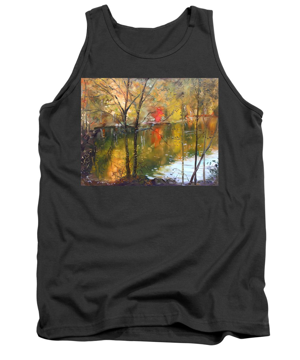 Landscape Tank Top featuring the painting Fall 2009 by Ylli Haruni