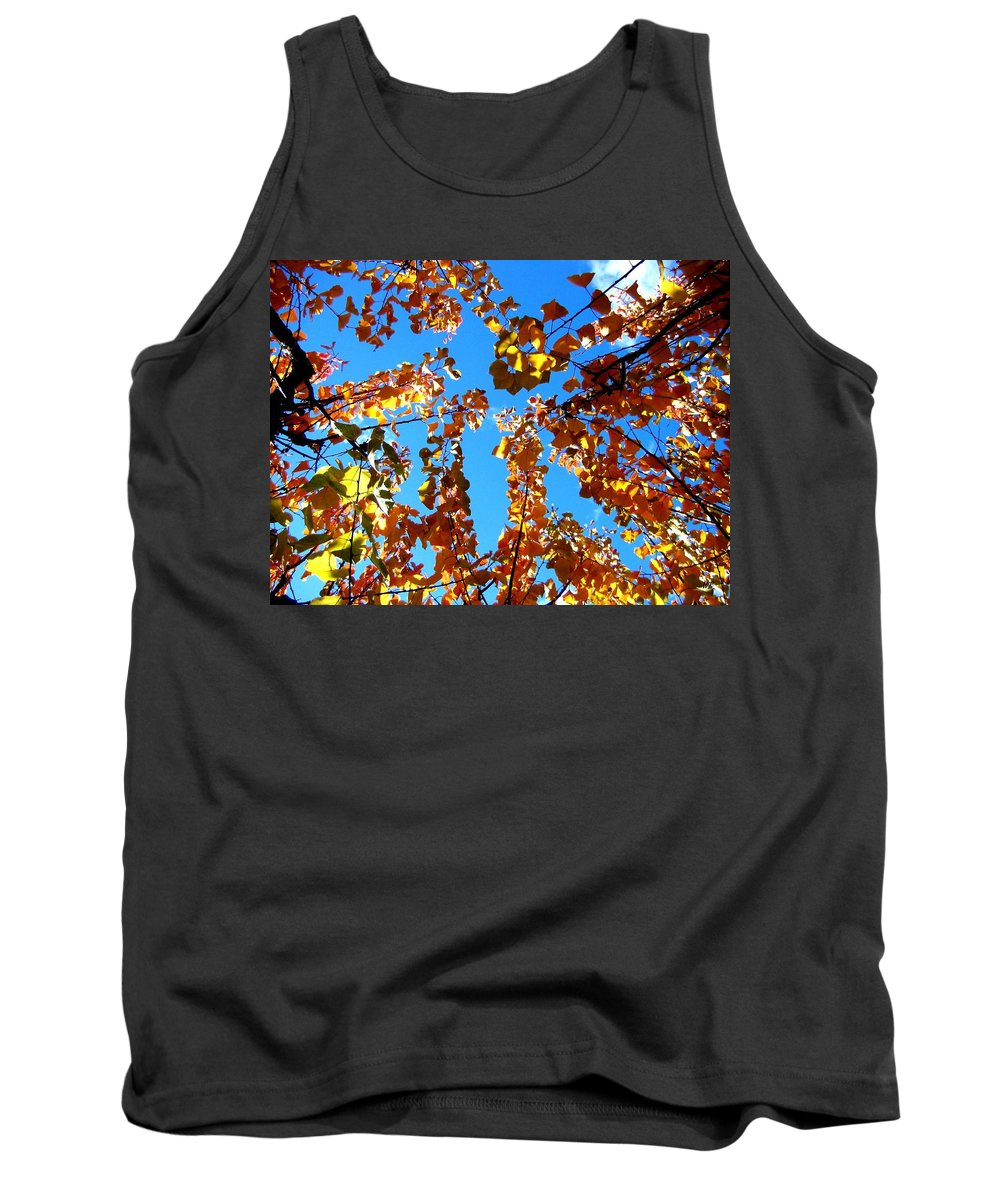 Apricot Leaves Tank Top featuring the photograph Fall Apricot Leaves by Will Borden