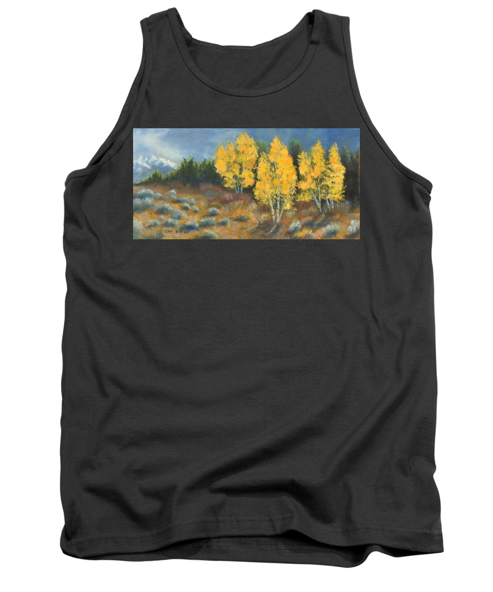 Landscape Tank Top featuring the painting Fall Delight by Jerry McElroy
