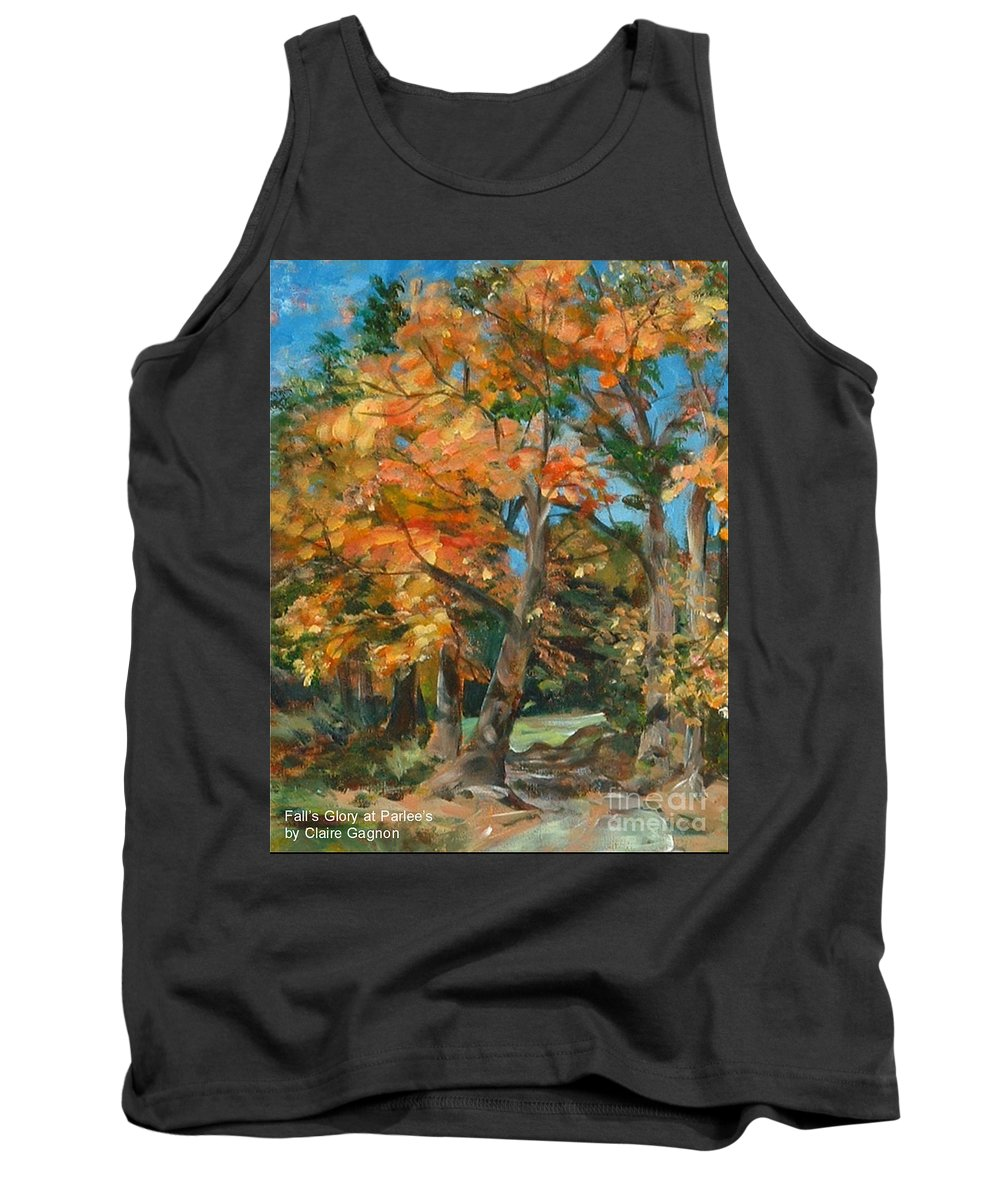 Peace Tank Top featuring the painting Fall Glory by Claire Gagnon