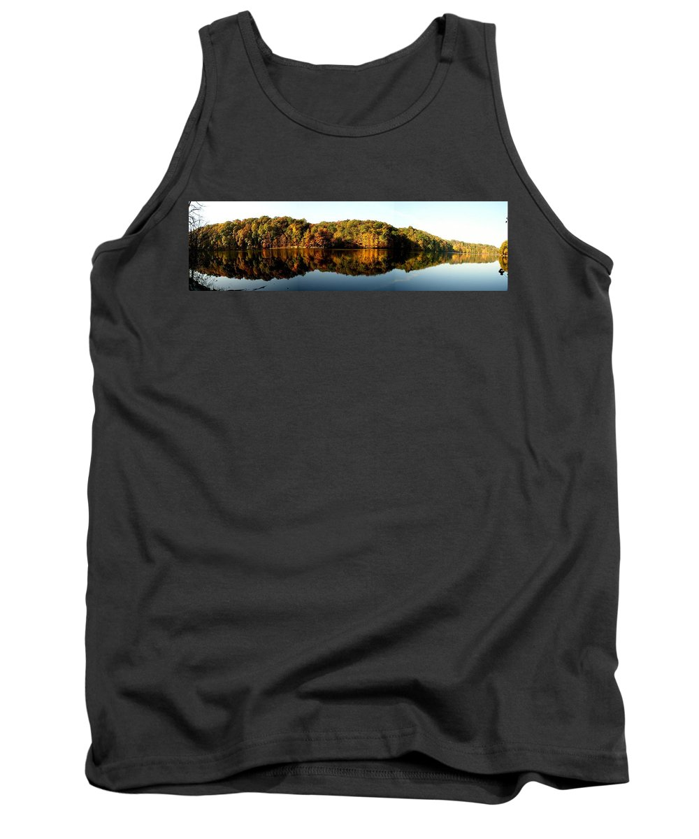 Fall Tank Top featuring the photograph Fall In Indiana by Carol Milisen