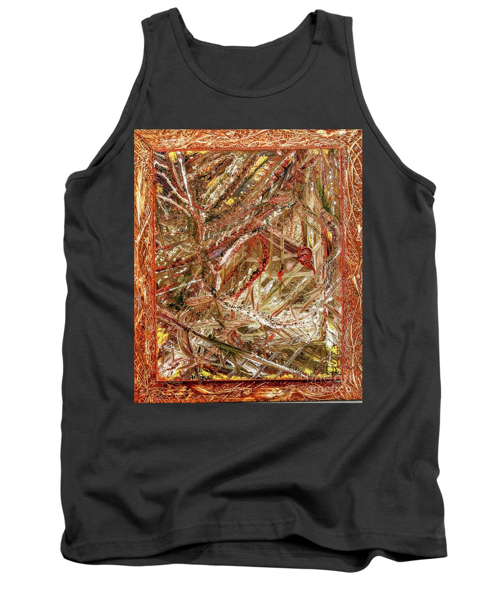 Abstract Contemporary Tank Top featuring the painting Fall by Mary Shawn Newins