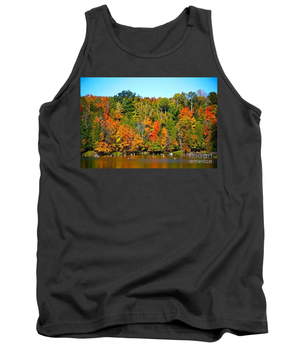 Fall Tank Top featuring the photograph Fall On The Water by Robert Pearson