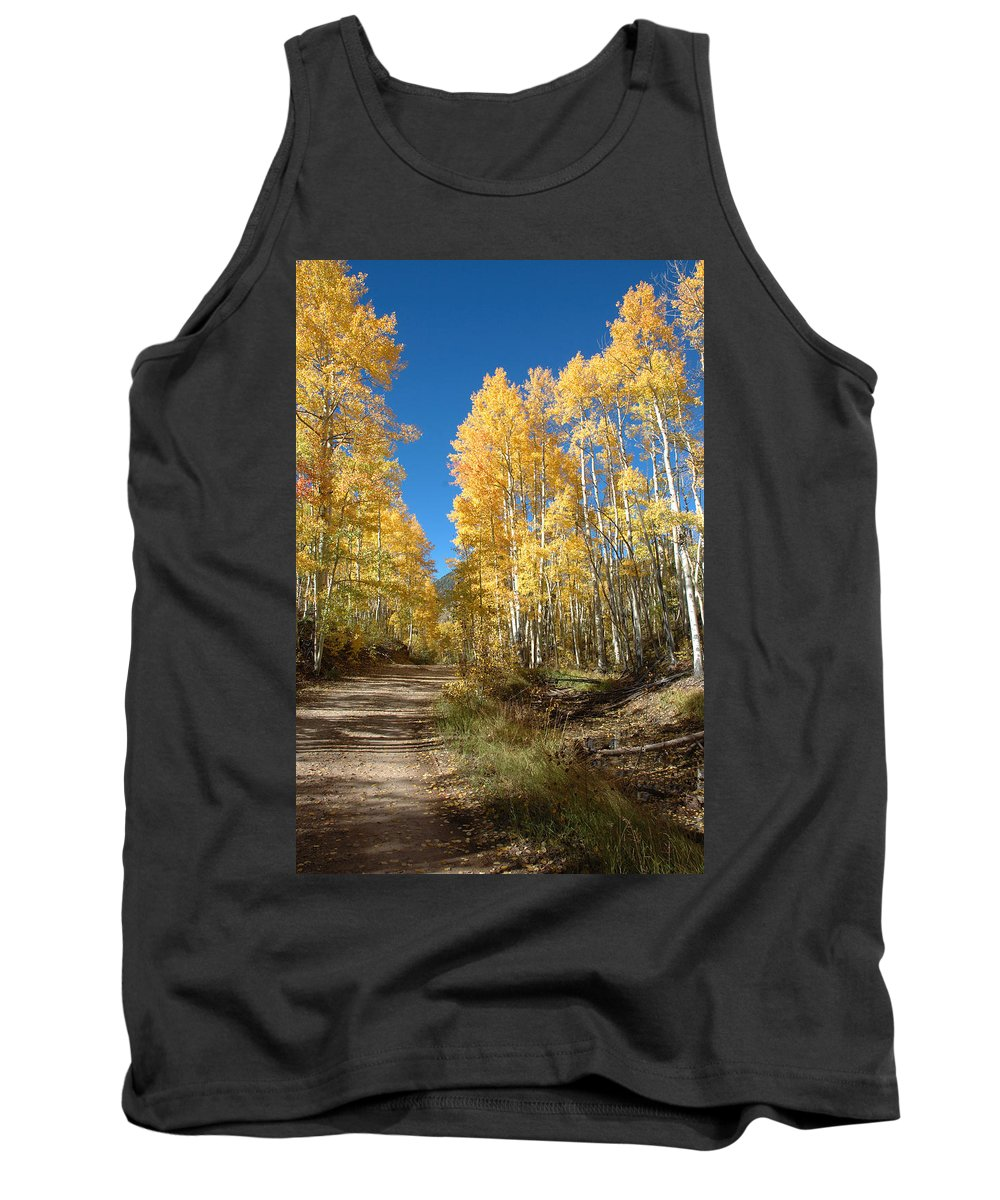 Landscape Tank Top featuring the photograph Fall Road by Jerry McElroy