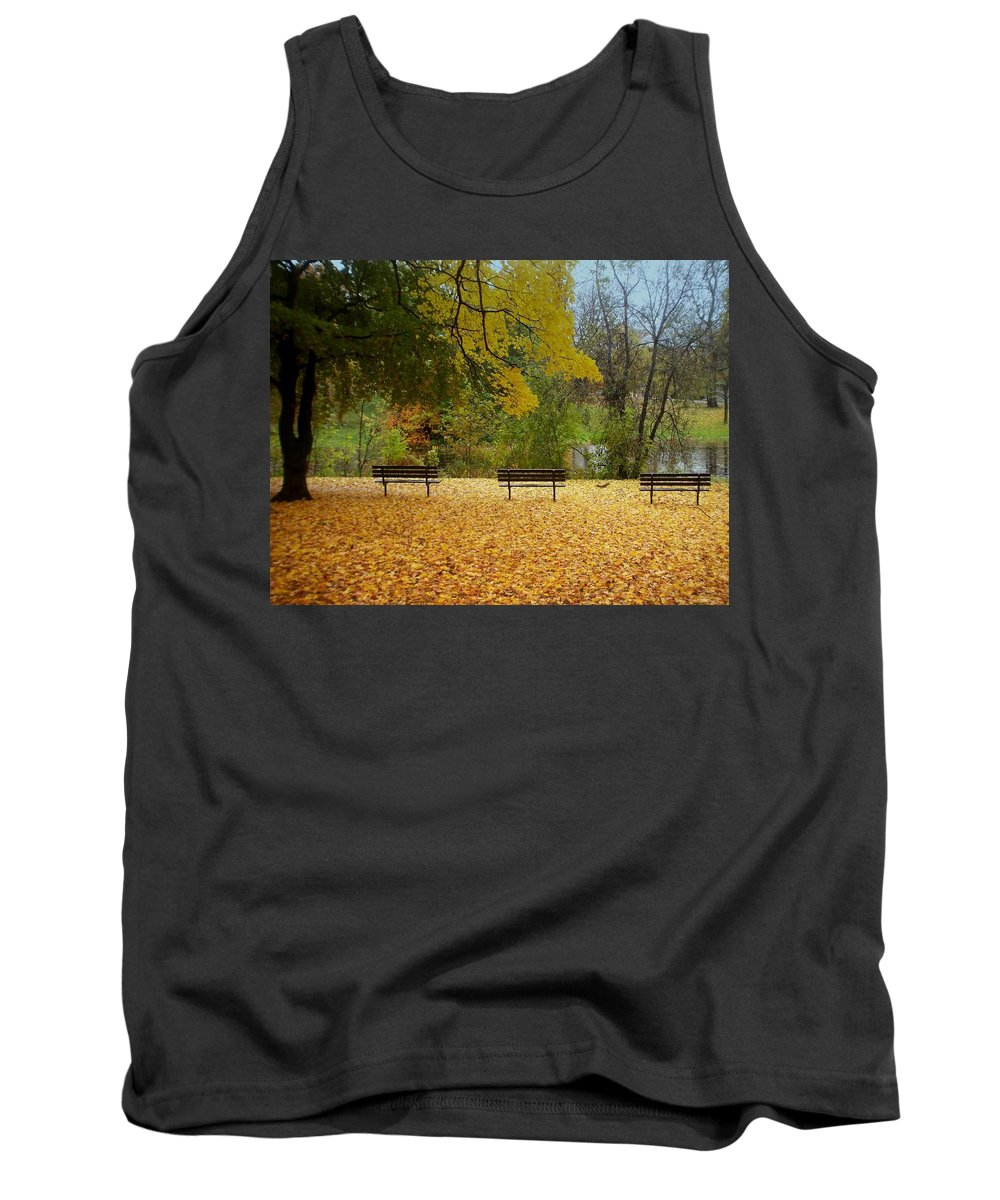Fall Tank Top featuring the photograph Fall Series 13 by Anita Burgermeister