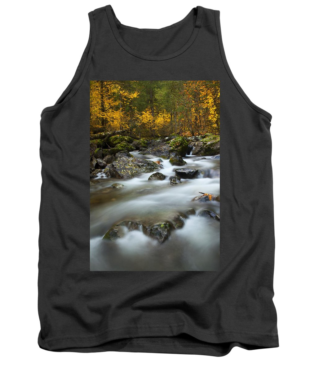 Stream Tank Top featuring the photograph Fall Surge by Mike Dawson