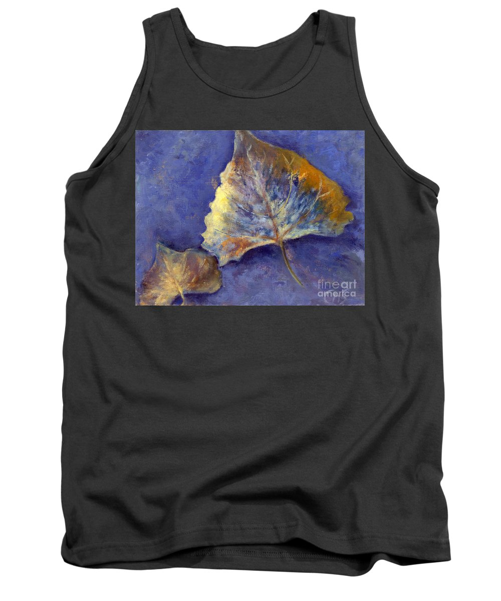 Leaves Tank Top featuring the painting Fanciful Leaves by Chris Neil Smith