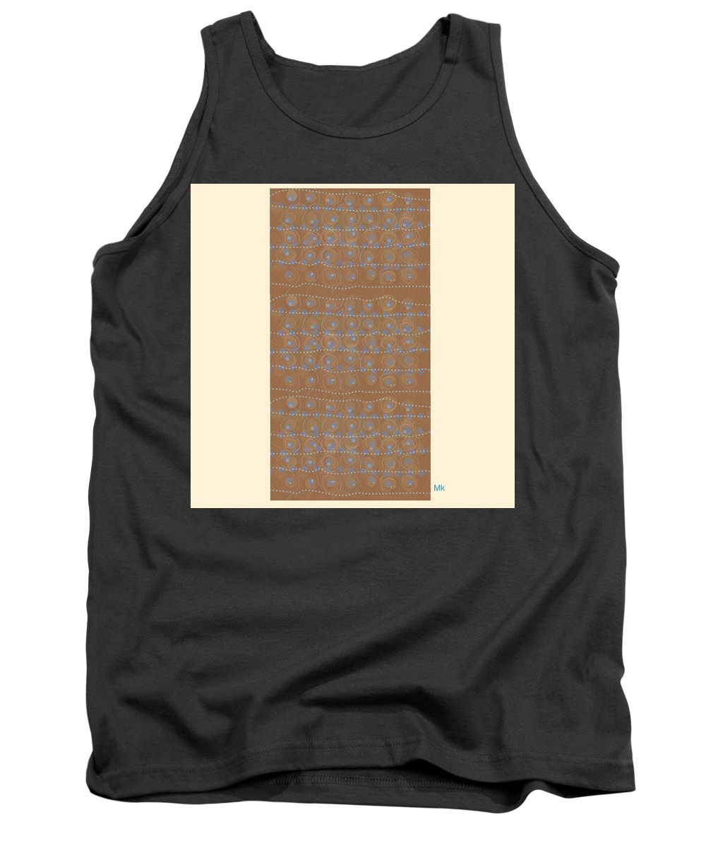 Abstract Tank Top featuring the digital art Fancy Brown Bag by Mary Jo Hopton