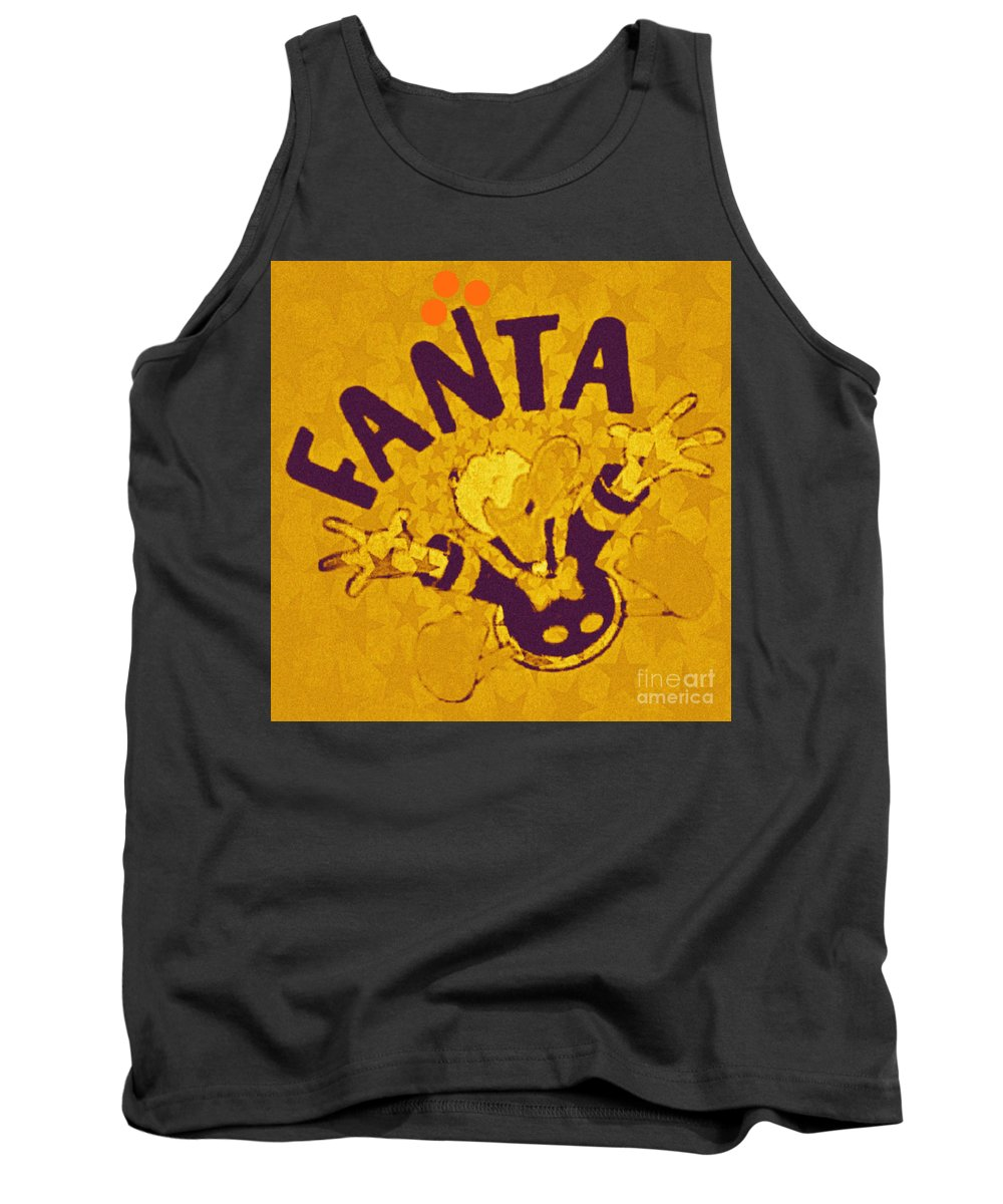 Fanta Tank Top featuring the painting Fanta Old School Pop Art Pur by Felix Von Altersheim
