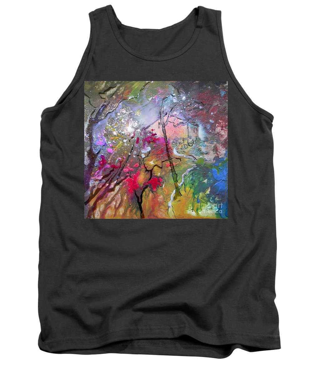 Miki Tank Top featuring the painting Fantaspray 19 1 by Miki De Goodaboom