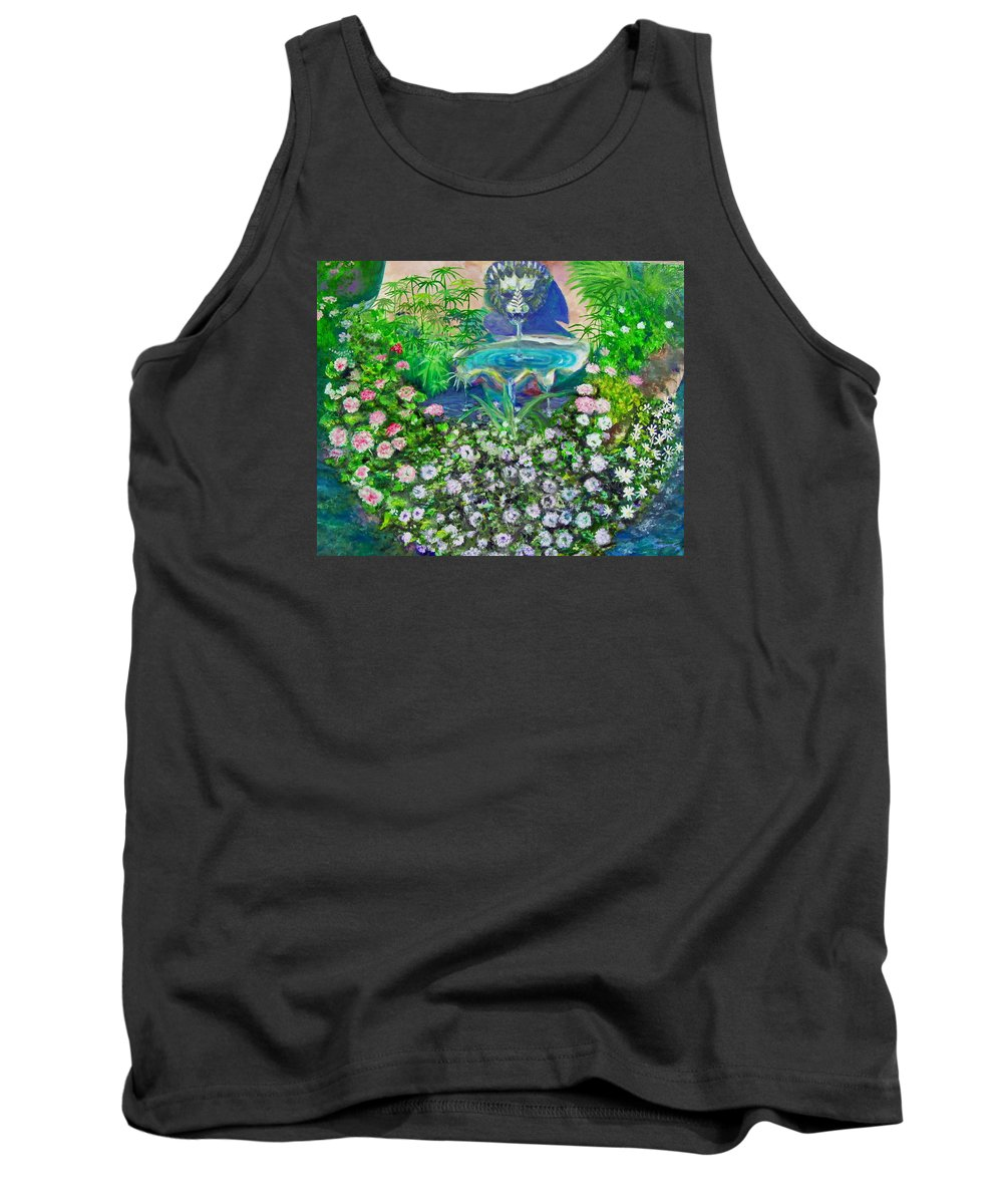 Fountain Tank Top featuring the painting Fantasy Fountain by Michael Durst