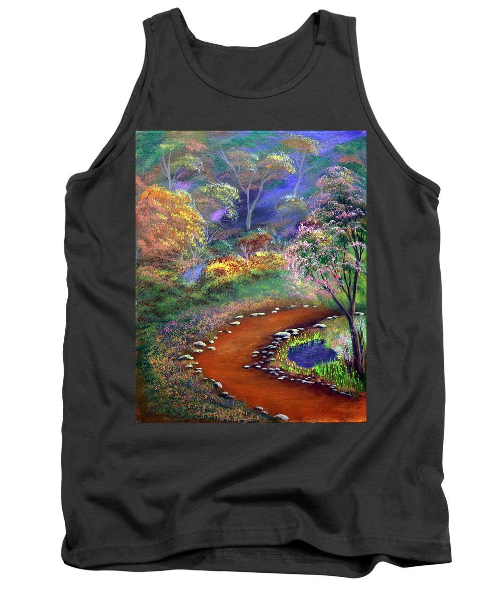 Dawn Blair Tank Top featuring the painting Fantasy Path by Dawn Blair