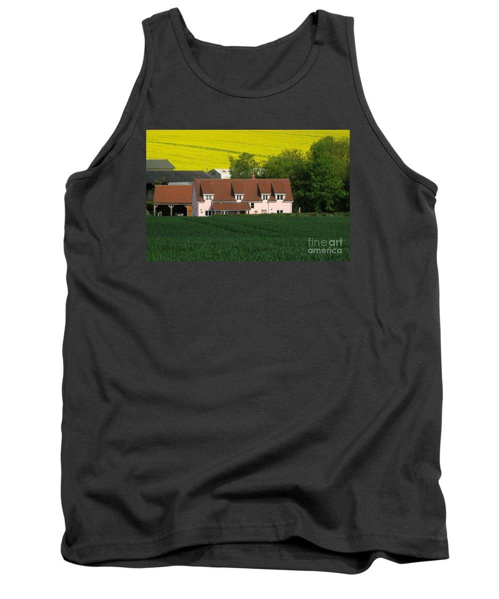 Farm Tank Top featuring the photograph Farm Fields by Ann Horn