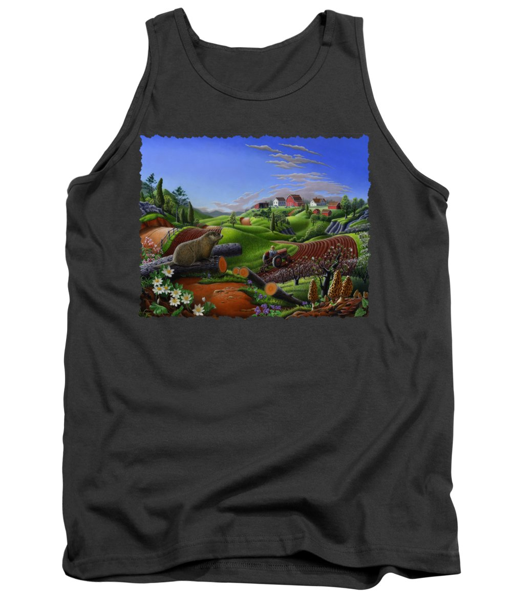 Groundhog Tank Tops