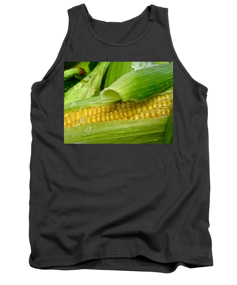 Corn Photograph Tank Top featuring the photograph Farm Fresh by Gwyn Newcombe