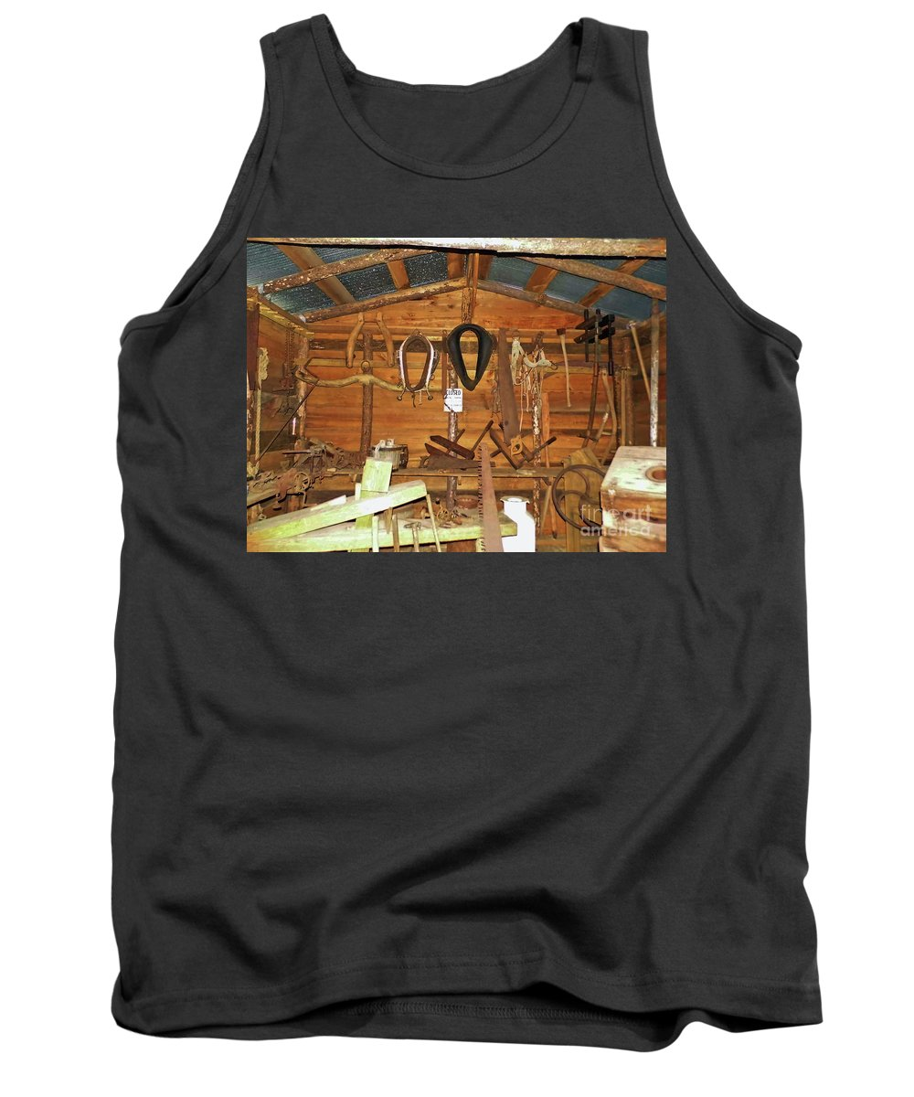 Farm Tools Tank Top featuring the photograph Farm Tools by D Hackett