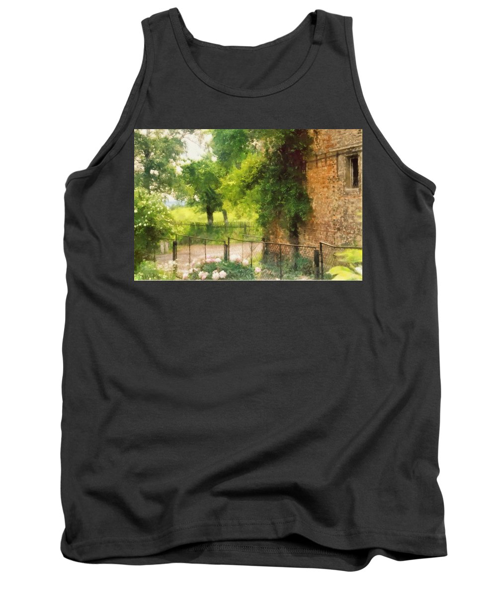 Farm Tank Top featuring the digital art Farm View by Marcin and Dawid Witukiewicz