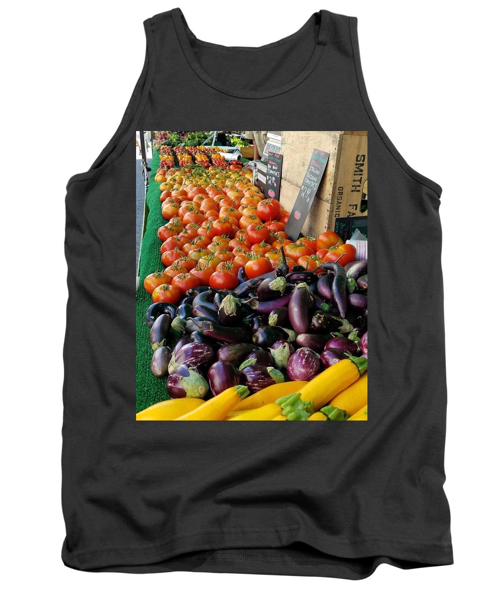 Farmer's Market Tank Top featuring the photograph Farmers' Market Colors by Rosanne Compitello