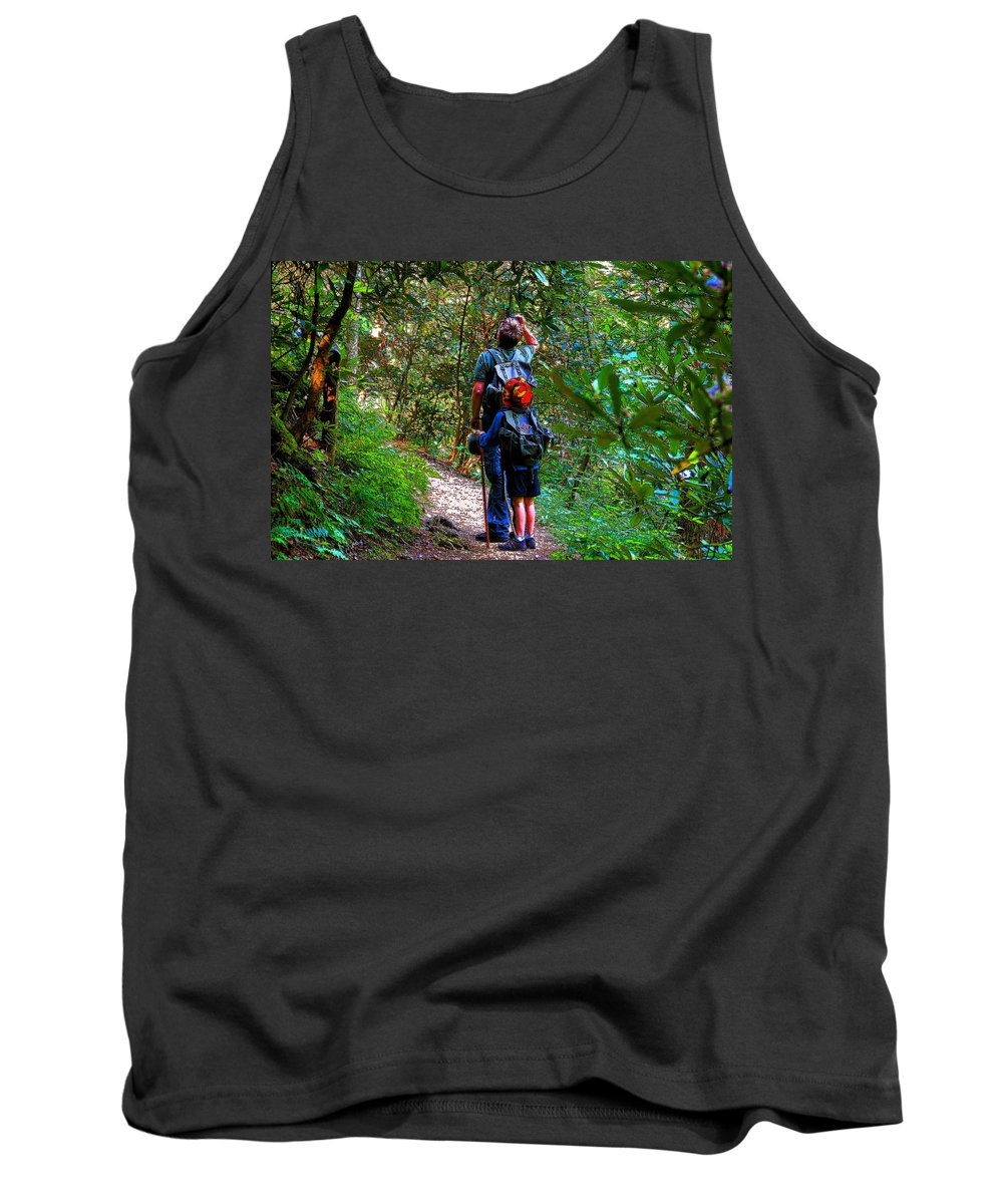 Father Tank Top featuring the painting Father And Son by David Lee Thompson
