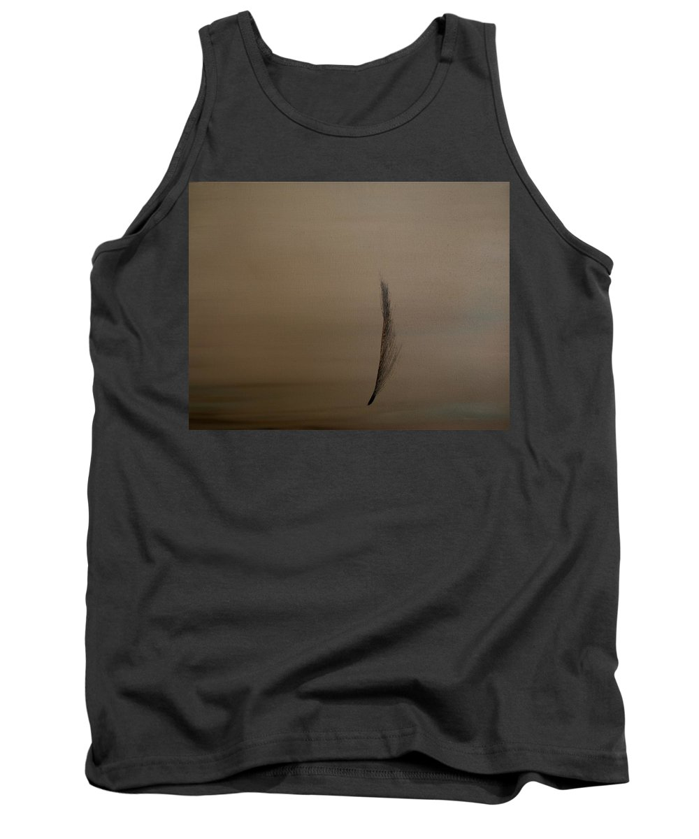 Feather Tank Top featuring the painting Feather by Jack Diamond