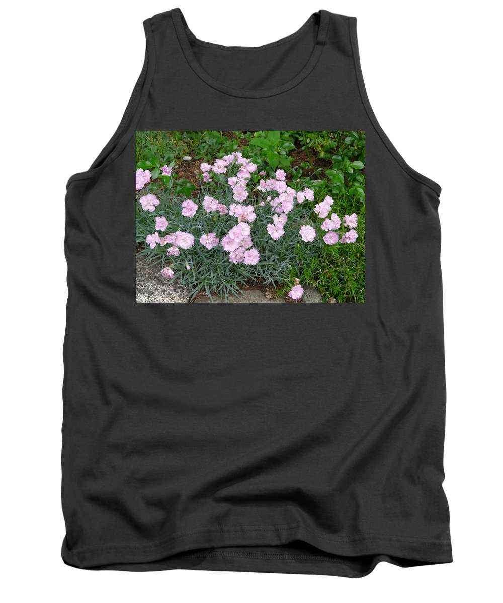 Flower Tank Top featuring the photograph Feathered Pink by Valerie Ornstein