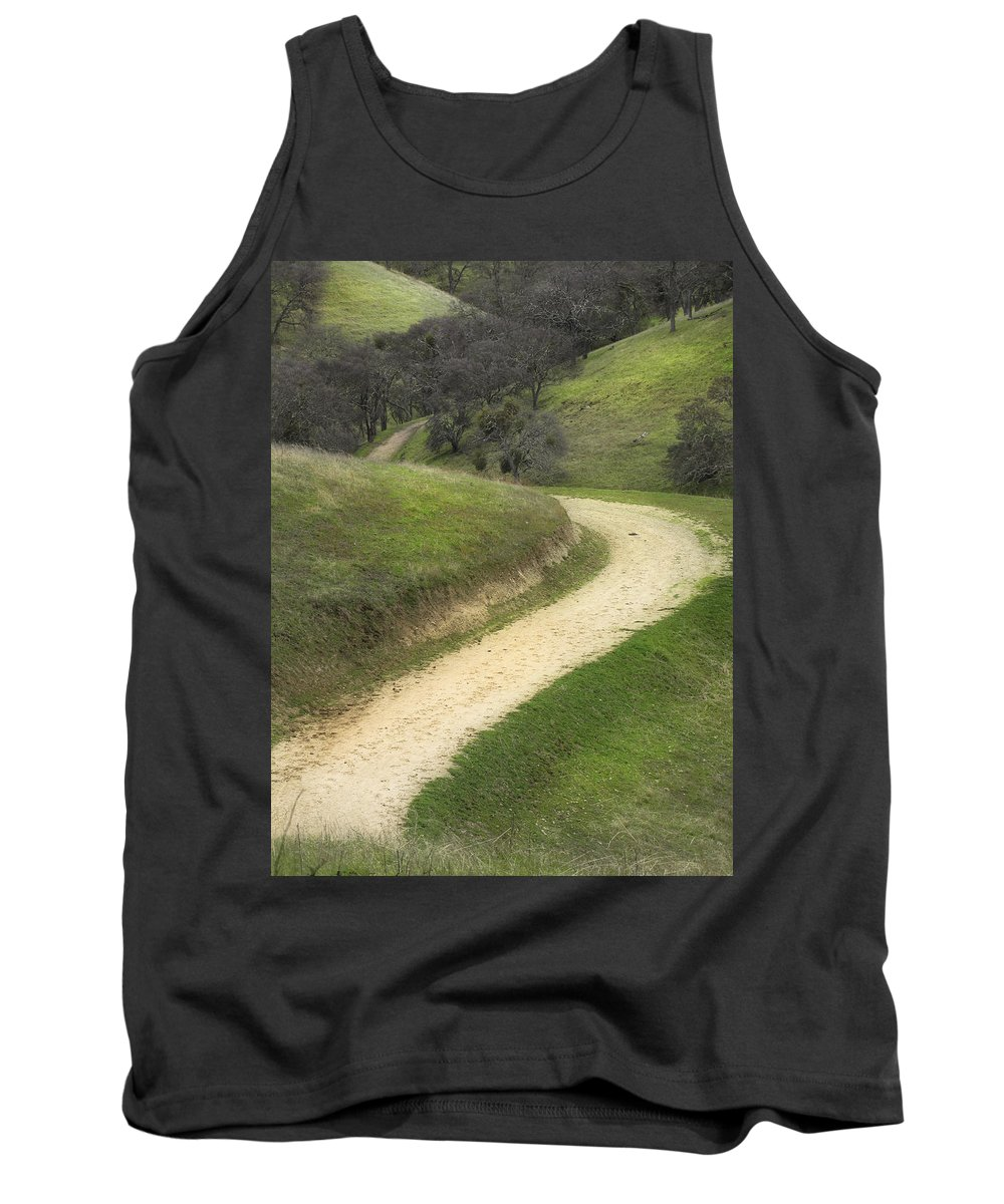 Landscape Tank Top featuring the photograph February Green by Karen W Meyer