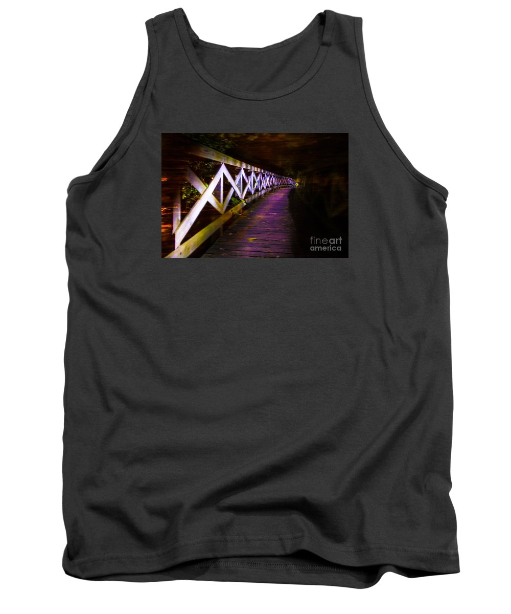 Straight Tank Top featuring the photograph Fence Line by Randy Kostichka