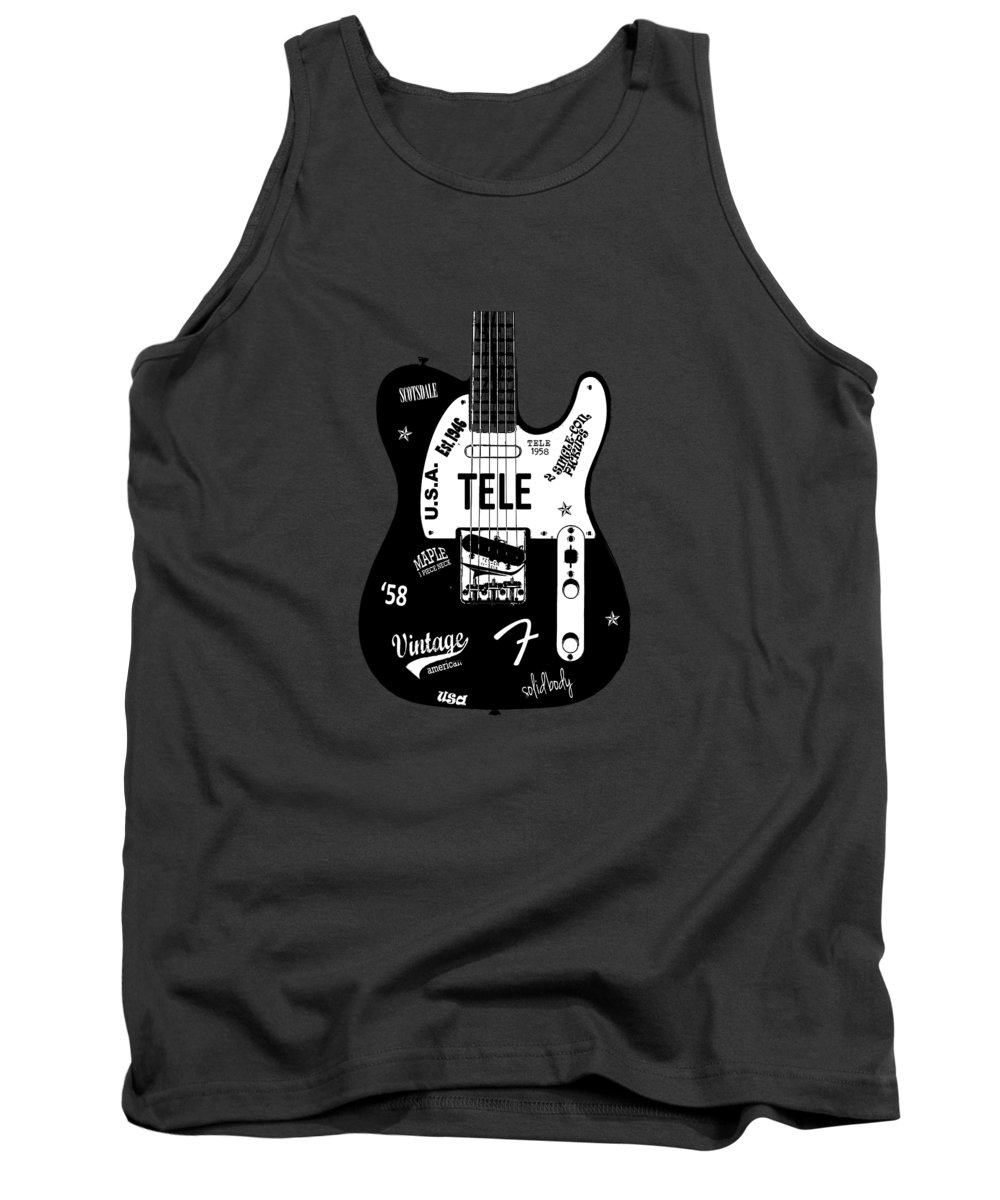 Fender Telecaster Tank Top featuring the photograph Fender Telecaster 58 by Mark Rogan