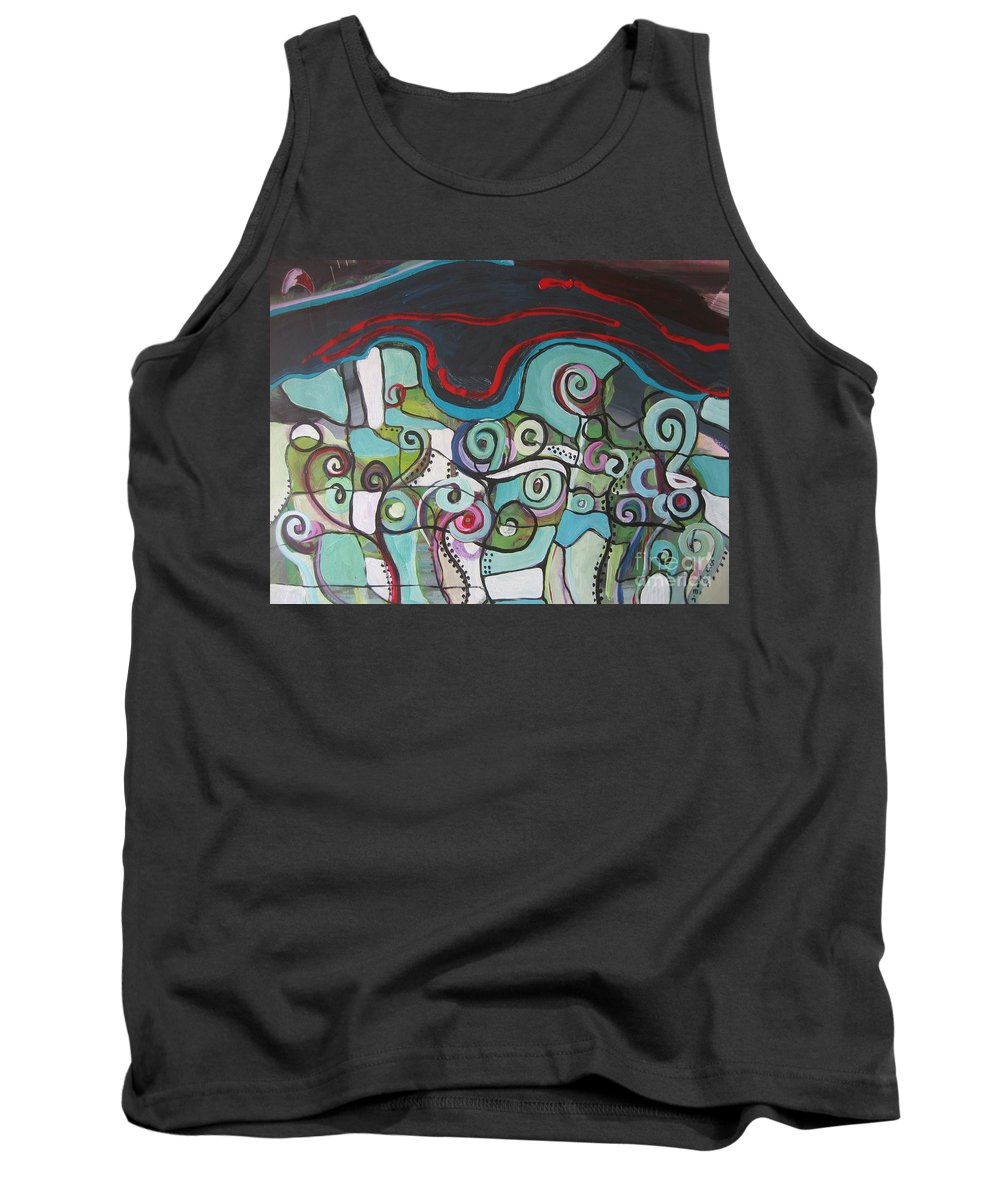 Fiddleheads Paintings Tank Top featuring the painting Fiddleheads 5 by Seon-Jeong Kim
