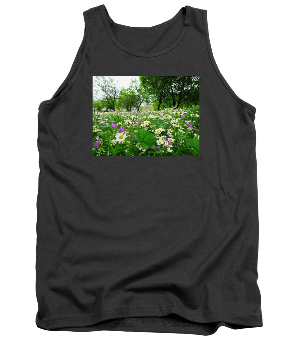Spring Tank Top featuring the photograph Field Of Daisies by Andonis Katanos