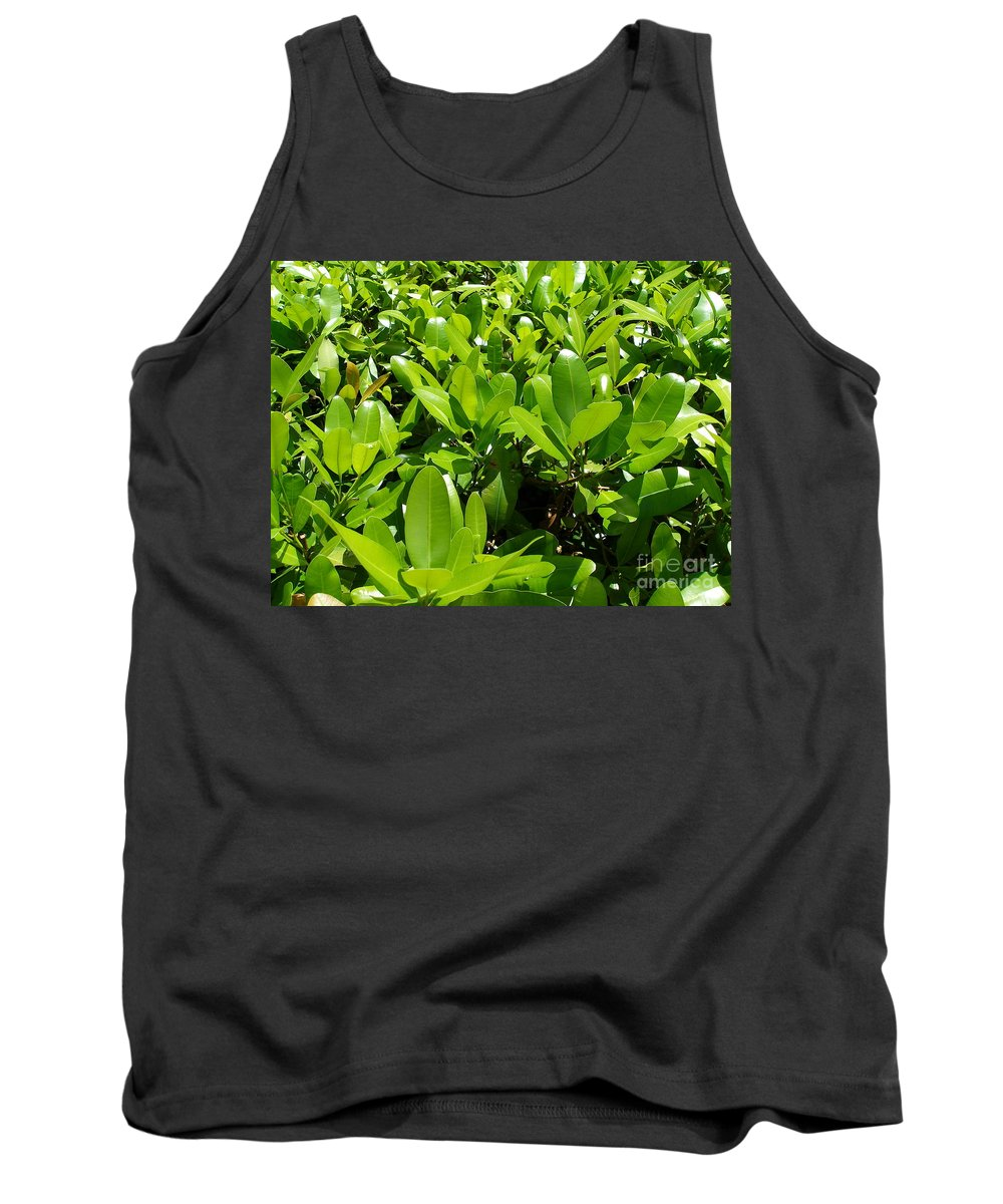 Shrub Tank Top featuring the photograph Field Of Green by Maria Bonnier-Perez