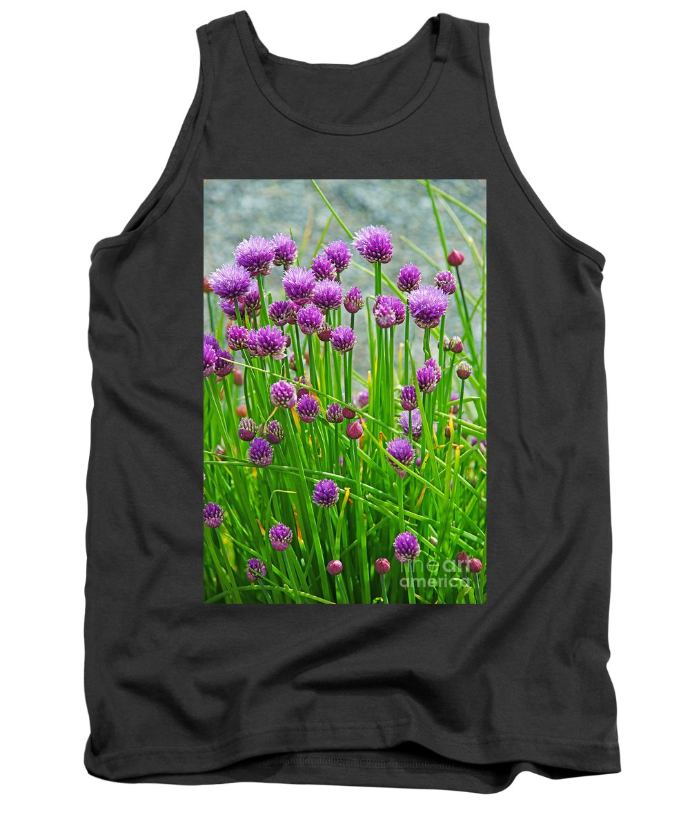 Flowers Tank Top featuring the photograph Field Of Onions by Randy Harris