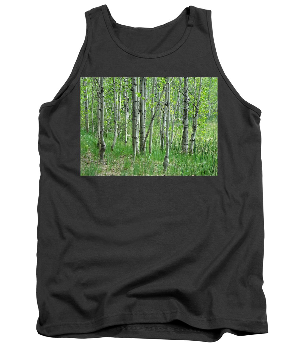 Tree Tank Top featuring the photograph Field Of Teens by Donna Blackhall
