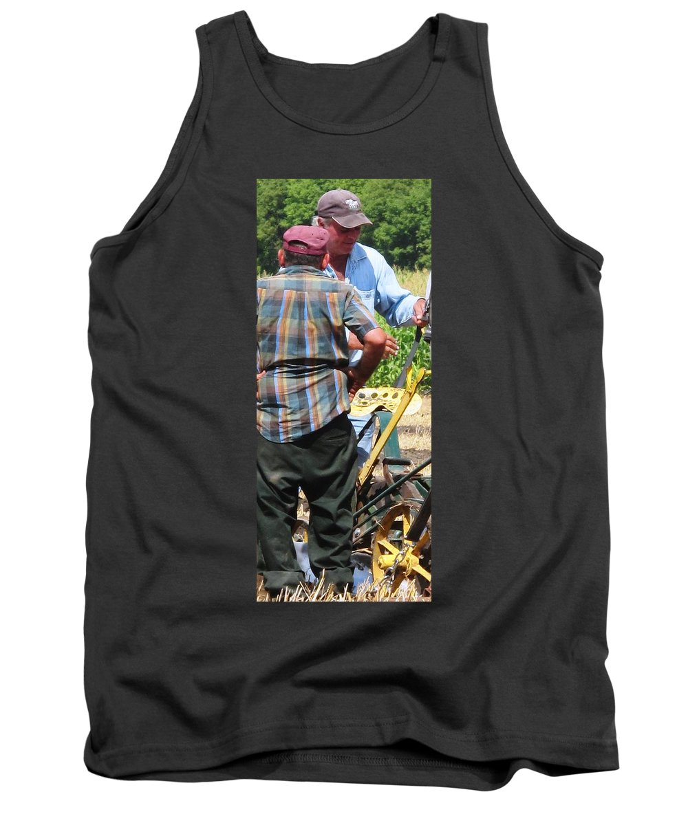 Plow Tank Top featuring the photograph Fierce Competitors by Ian MacDonald