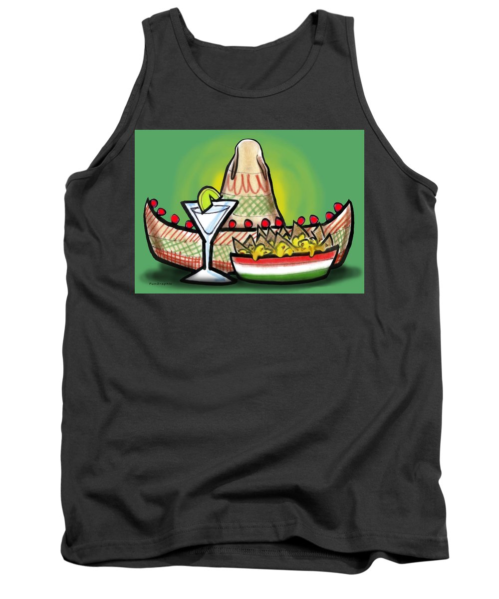 Fiesta Tank Top featuring the greeting card Fiesta by Kevin Middleton
