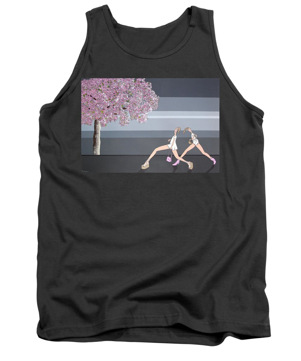 Girls Tank Top featuring the painting Fifteen by Patricia Van Lubeck