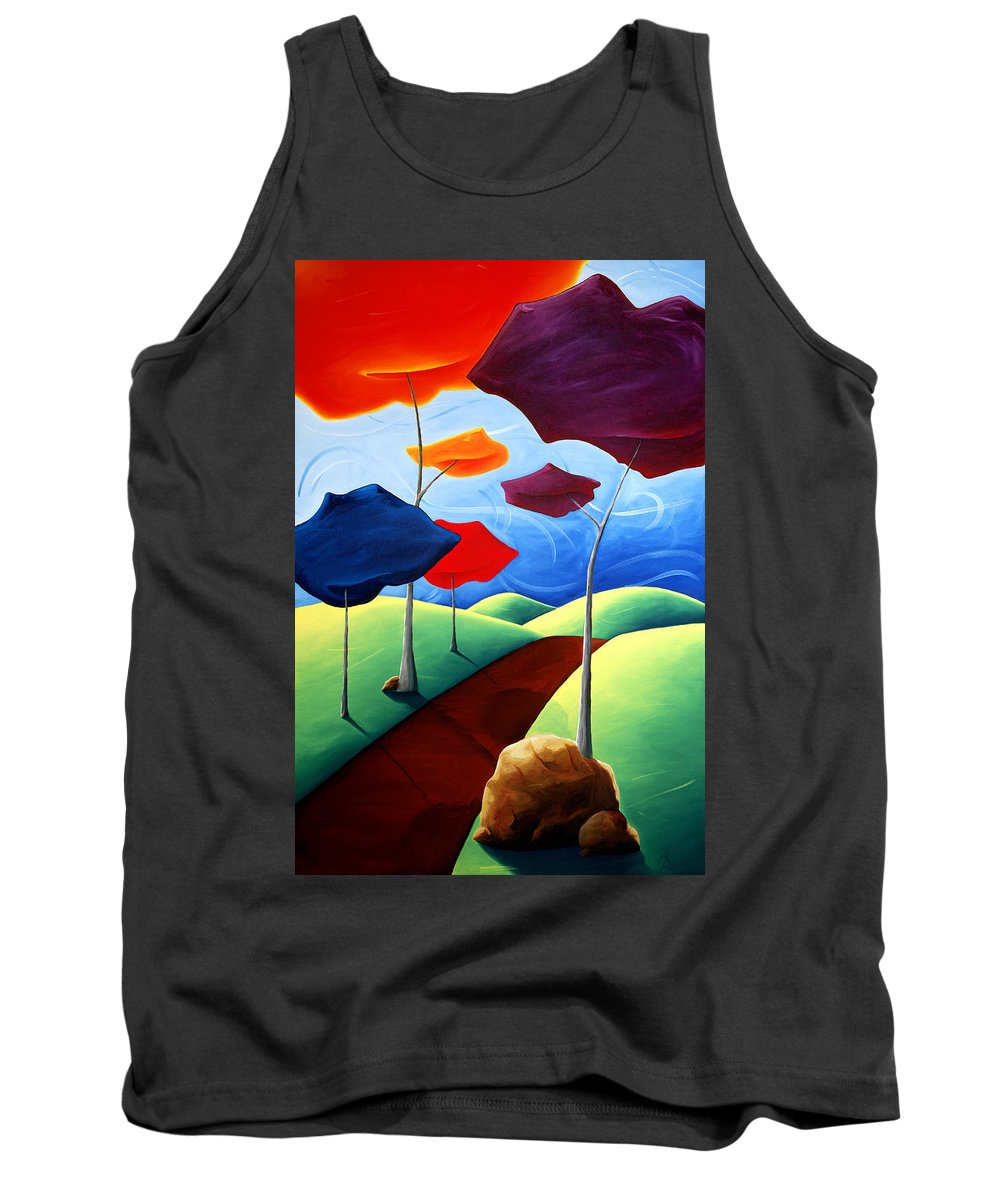 Landscape Tank Top featuring the painting Finding Your Way by Richard Hoedl
