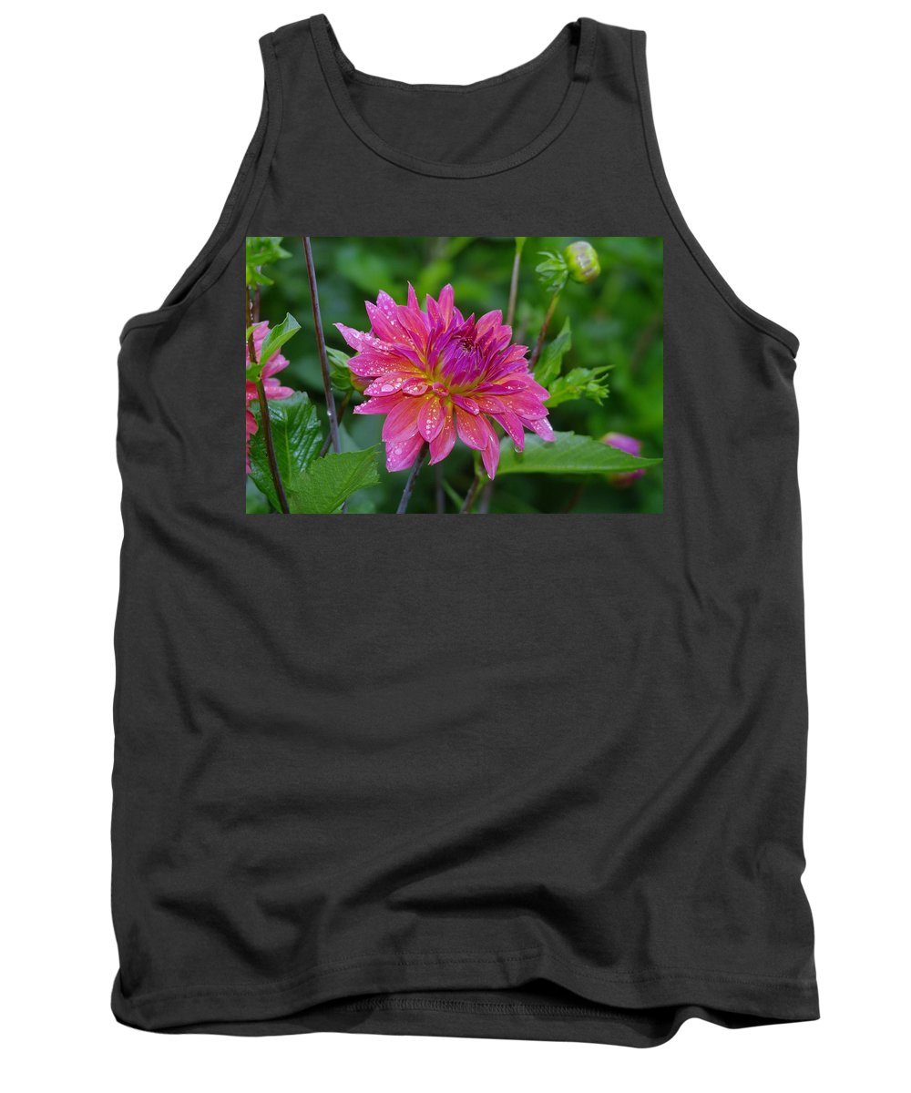 Flowers Tank Top featuring the photograph Fire And Rain by Jeff Swan