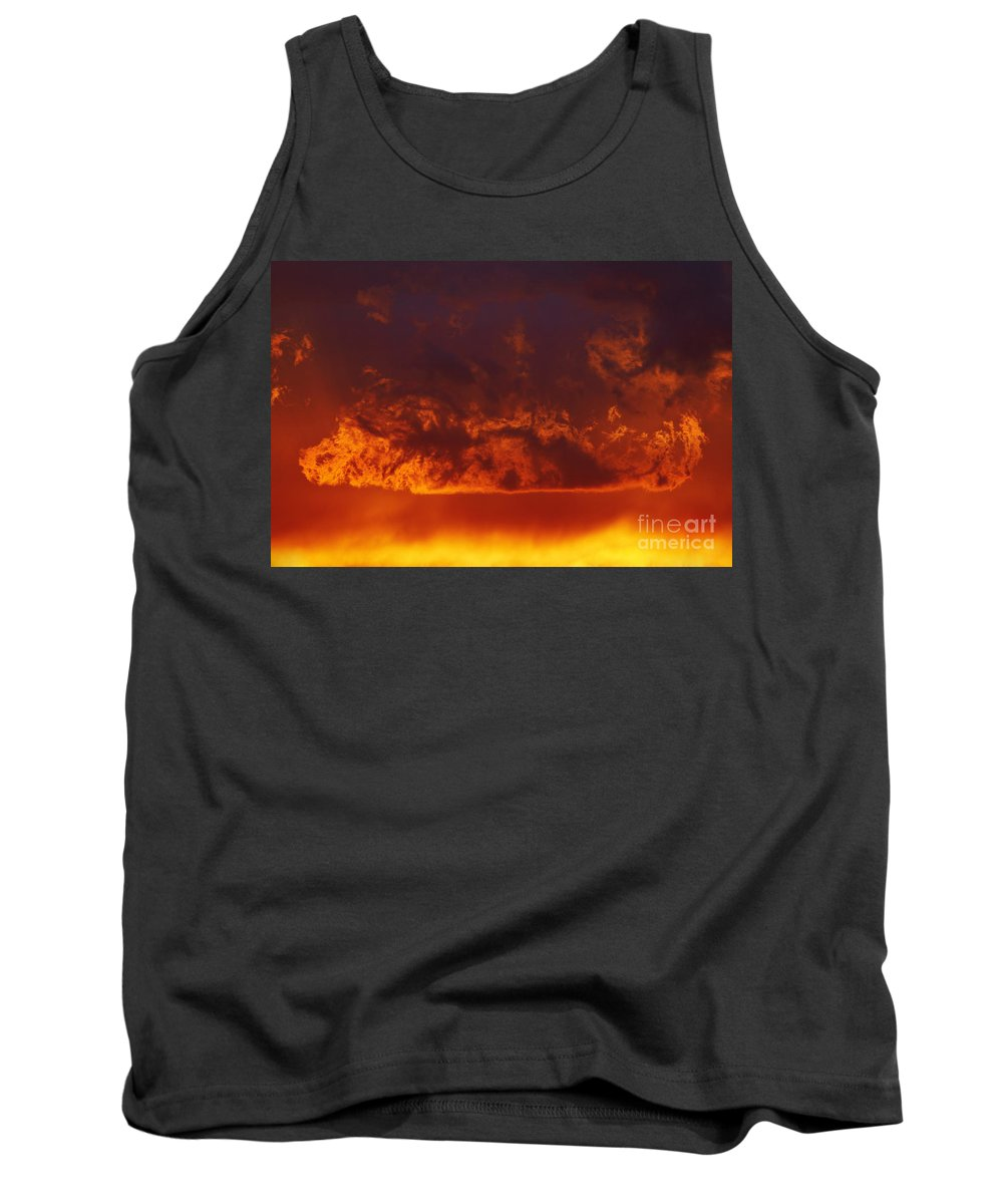 Sunset Tank Top featuring the photograph Fire Clouds by Michal Boubin