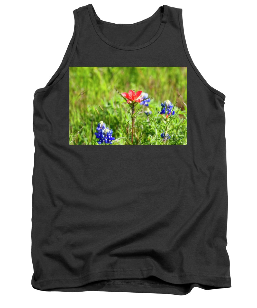 Flowers Tank Top featuring the photograph Fire Cracker by Joan Bertucci