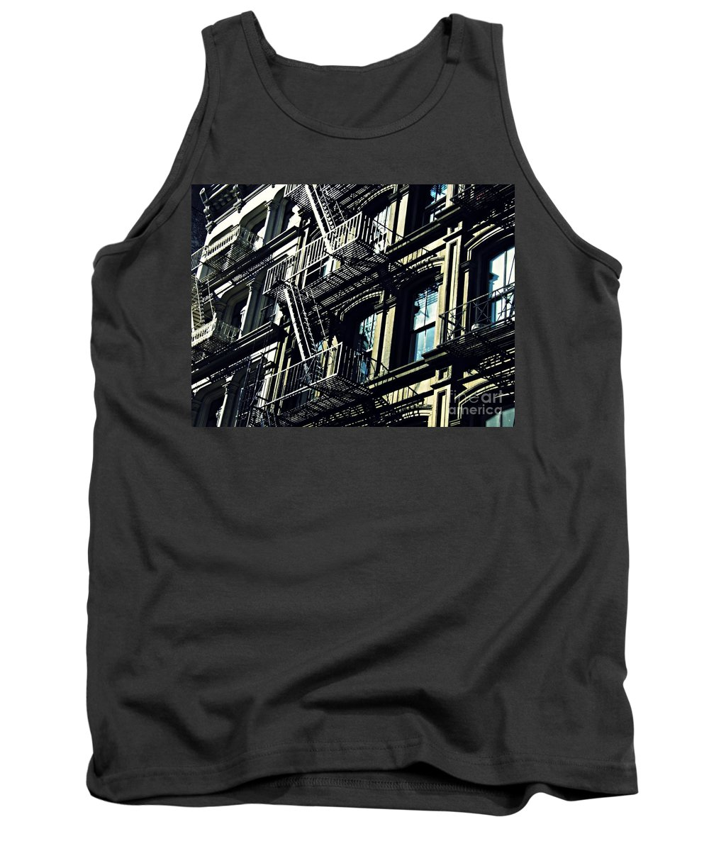Window Tank Top featuring the photograph Fire Escape On Franklin Street 2 by Sarah Loft