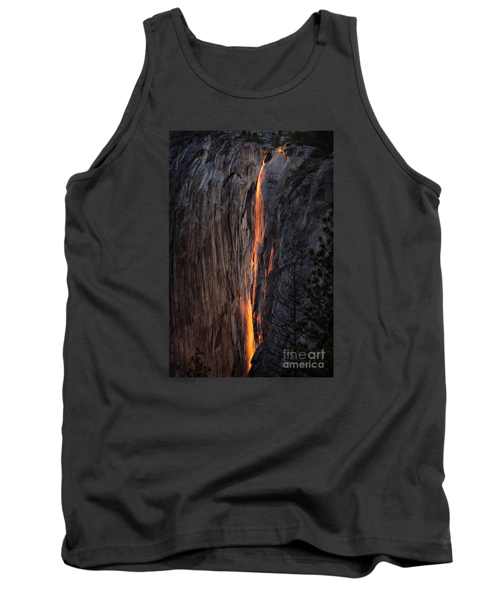 Yosemite Tank Top featuring the photograph Fire Fall by Anthony Bonafede