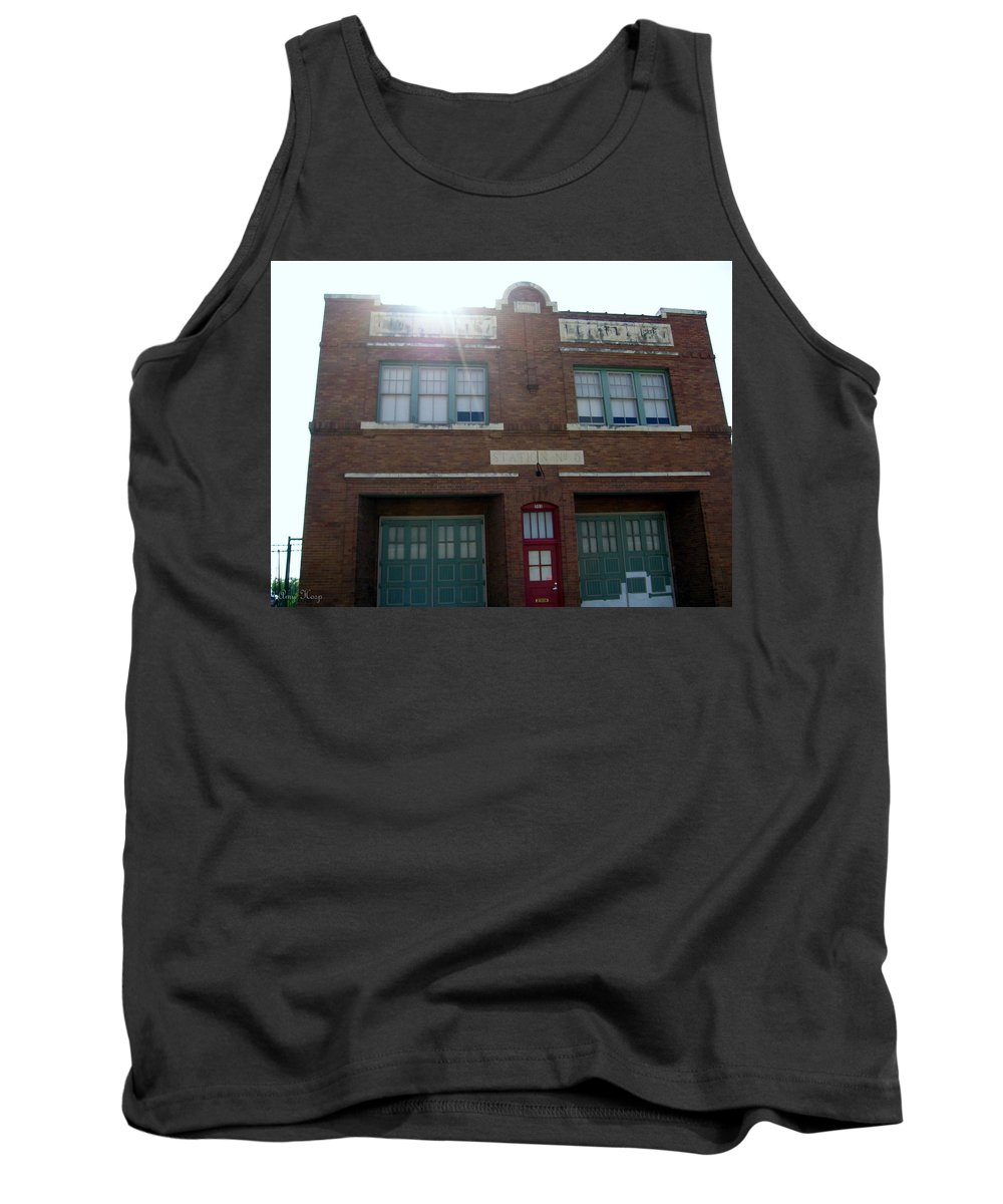 Fire House Tank Top featuring the photograph Fire House by Amy Hosp