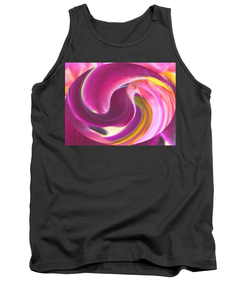 Purple Tank Top featuring the digital art Fire In My Soul by Ian MacDonald