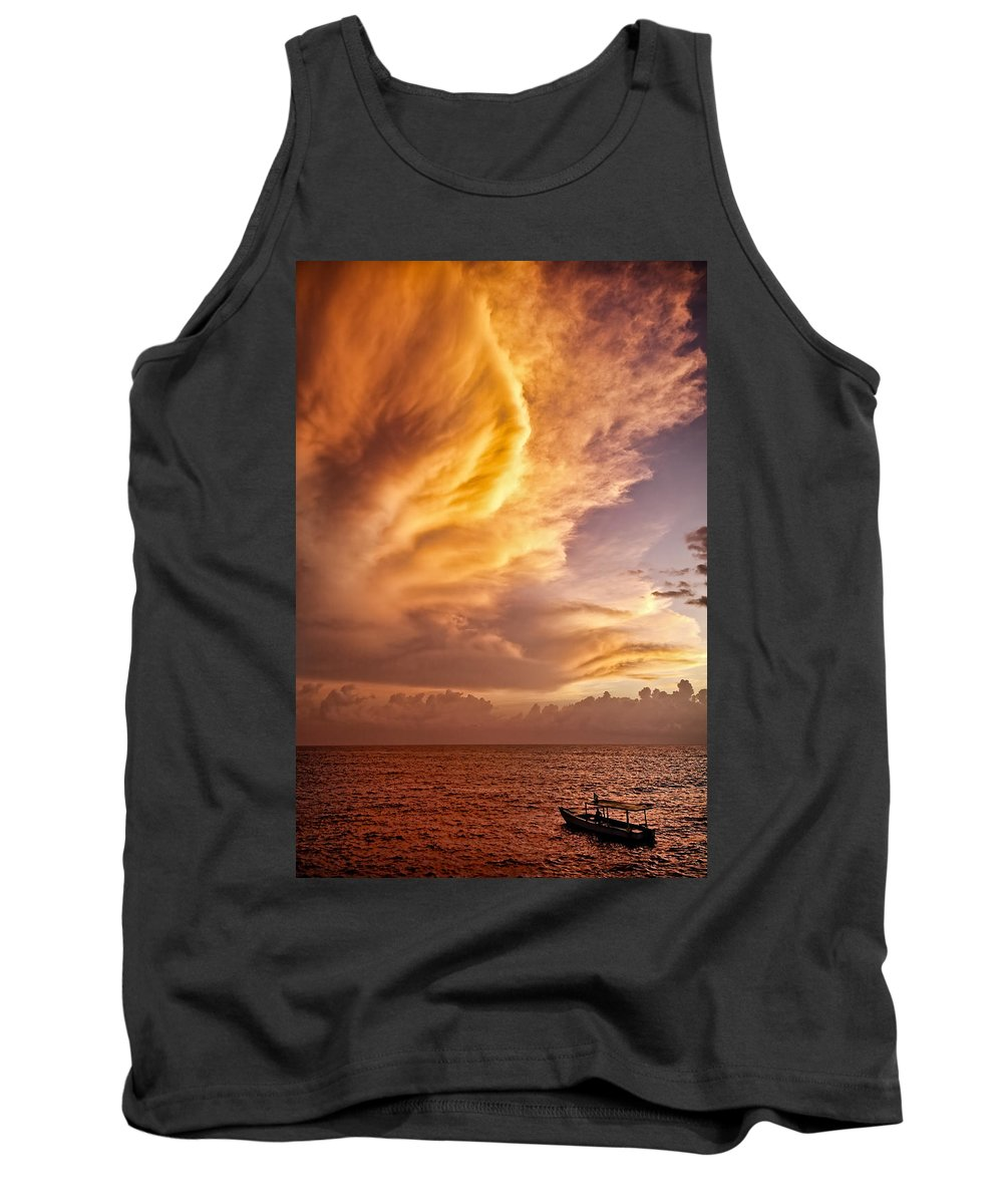 Jamaica Tank Top featuring the photograph Fire In The Sky by Dave Bowman