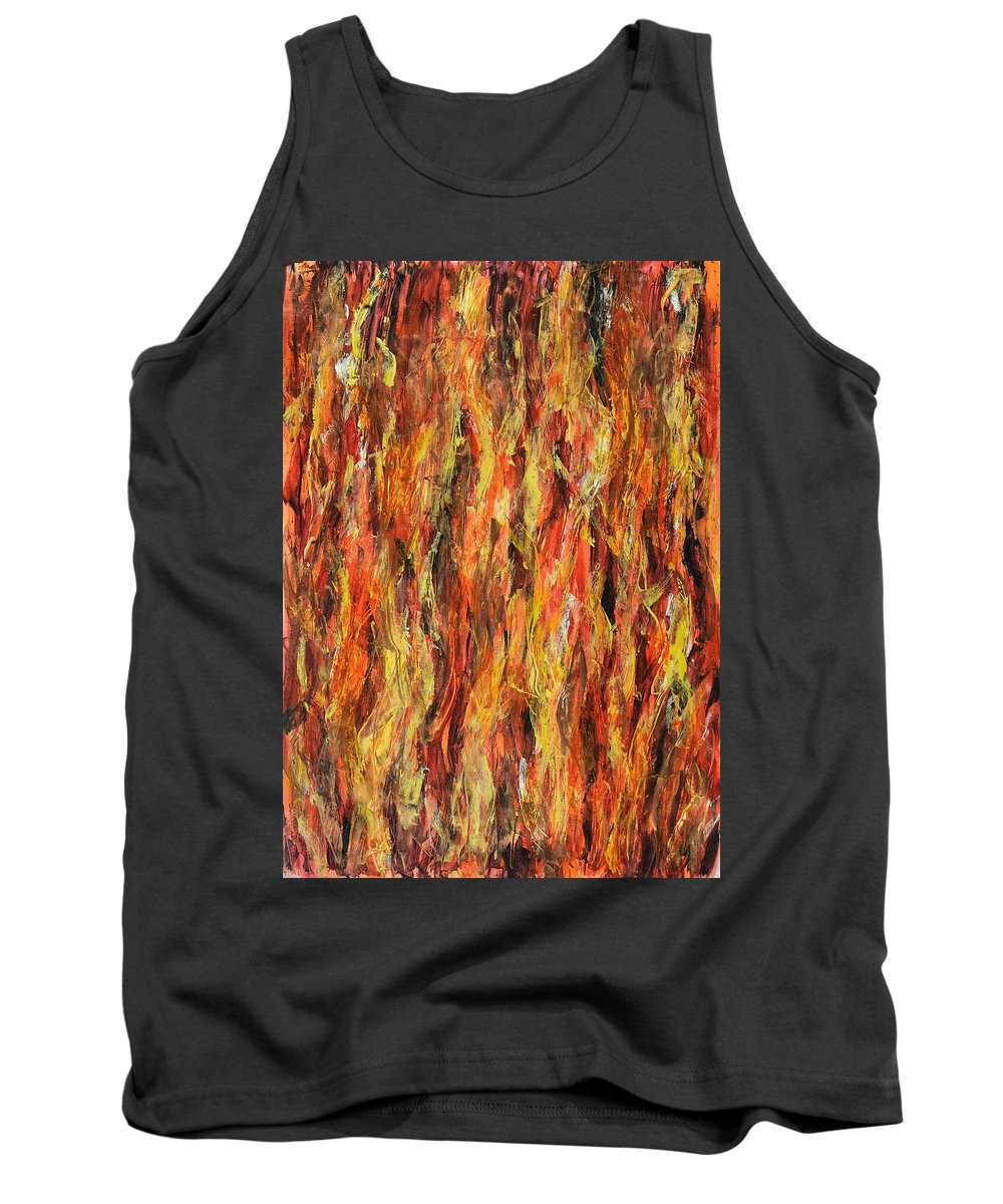 Flames Tank Top featuring the painting Fire by Kelly Margo