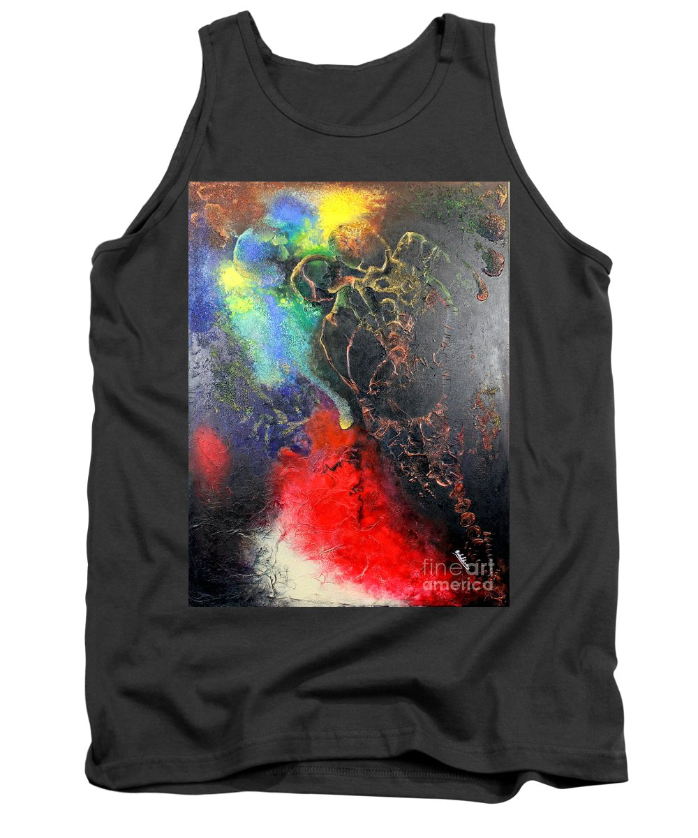 Valentine Tank Top featuring the painting Fire Of Passion by Farzali Babekhan