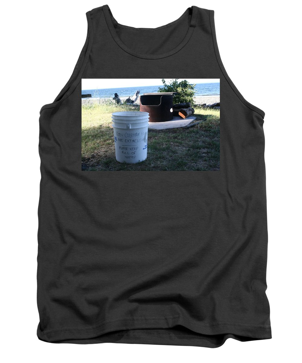 Fire Prevention Tank Top featuring the digital art Fire Prevention - Vanvouver Island - Ca by Joseph Coulombe