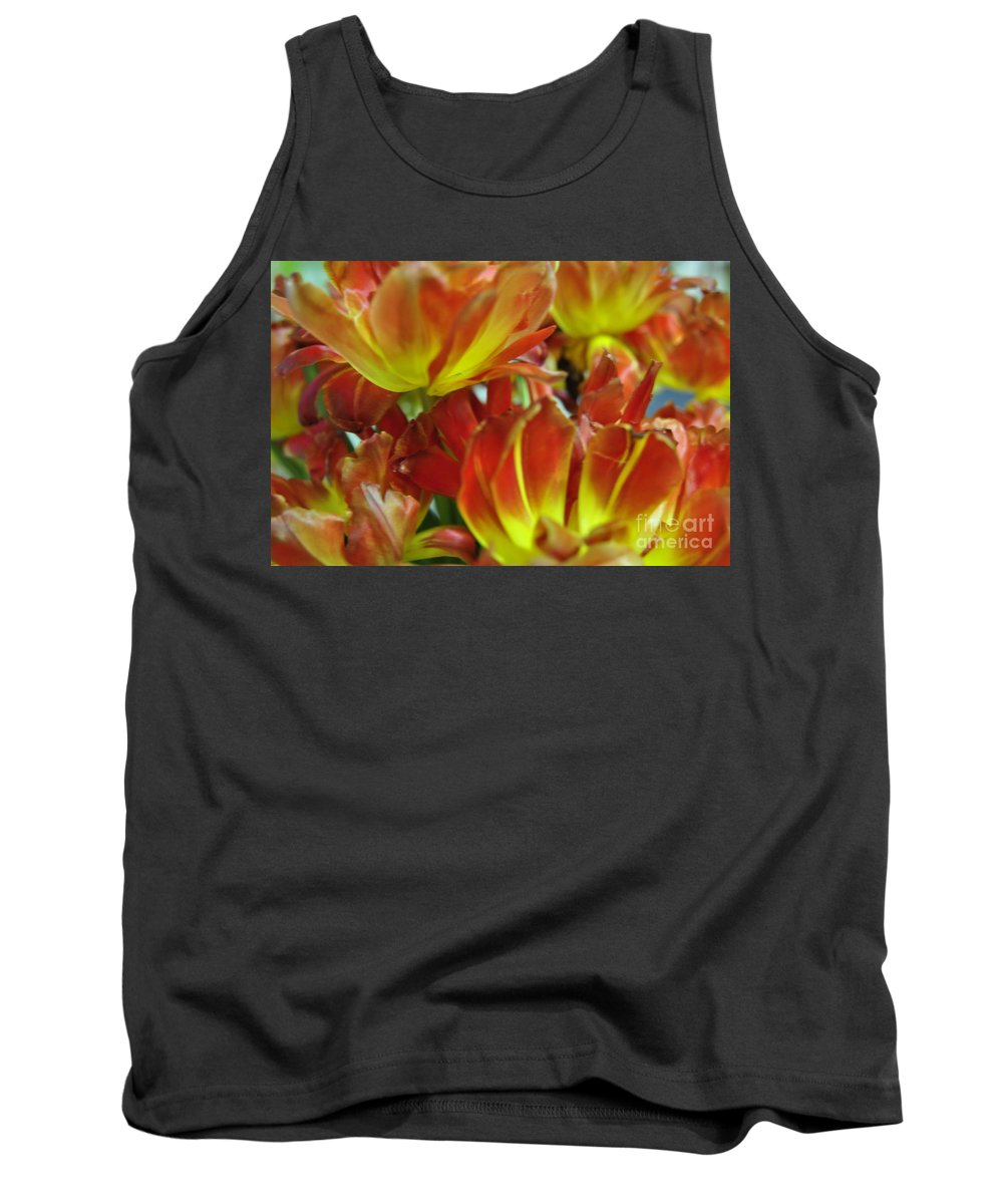 Tulips Tank Top featuring the photograph Fire by Vicky Tubb